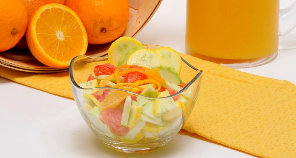salade de courgette aux agrumes