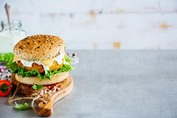 burger vegetarien aux courgettes